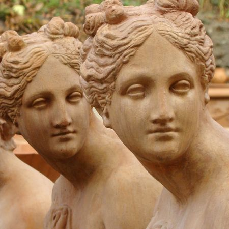 terracotta statues closeup, Italy Tuscany, Impruneta Stock Photo - 6004897