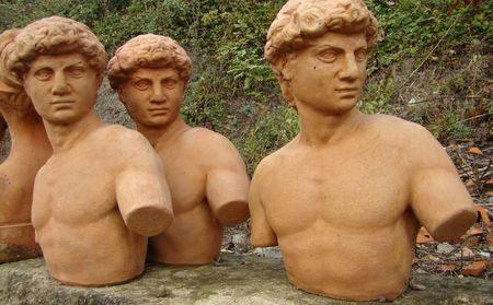 terracotta David statues for sale, Impruneta in Tuscany                                Stock Photo - 6004920