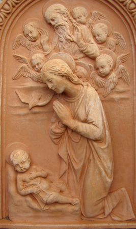 terracotta relief, Italy                                photo
