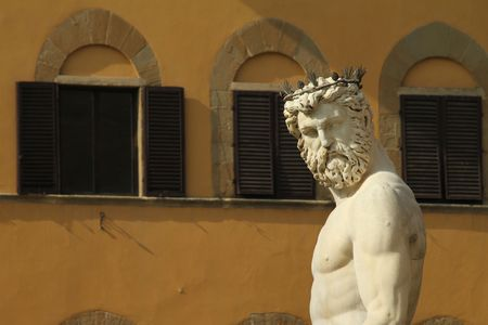 act of god: Neptune sculpture by Ammannati, Florence, Piazza Signoria