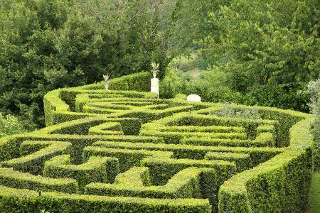 green labyrinth, Tuscany, Sovana, Italy