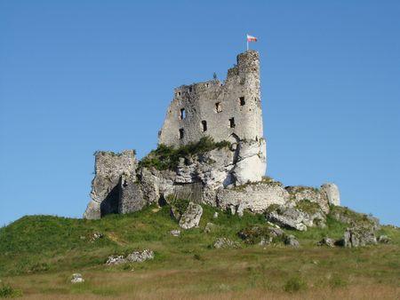 mirow: ruin of castle in Mirow, Poland