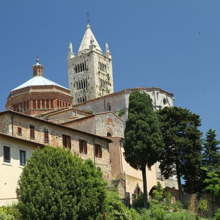 massa: The Cathedral of Massa Marittima, Tuscany, Italy