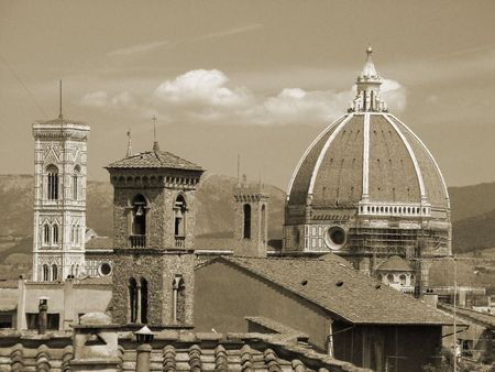 roofs of Florence               photo
