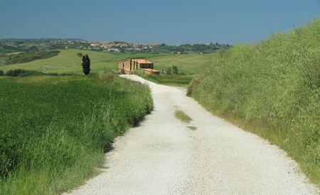 walking in Tuscany  photo