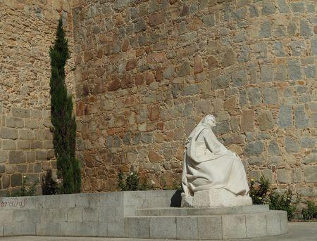 theologians: Monument of Saint Teresa of Avila, Avila, Spain  Stock Photo