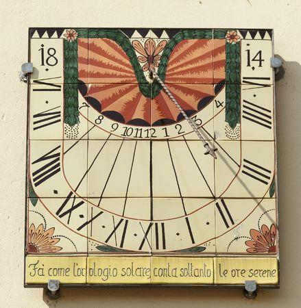 solar clock  photo