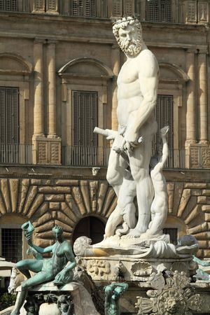 carnal: Fountain of Neptune, Florence  Stock Photo