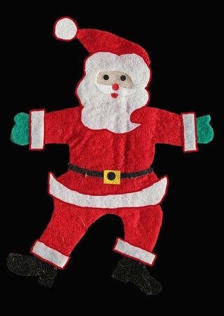 Santa Claus figure isolated on black background,christmas car photo