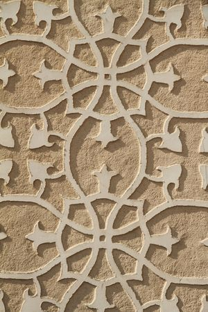 bas relief: floral wall decoration, Spain