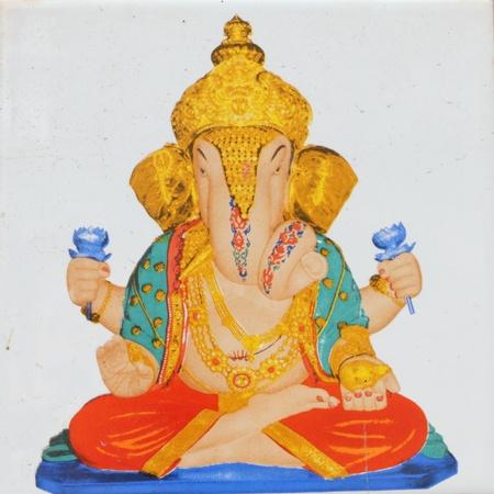 image of hindu deity Ganesha ( ganesh)  Bombay ( Mumbai) , India photo