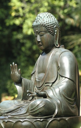 sculpture of Buddha in the gardens of the Chhatrapati Shivaji Maharaj Vastu Sangrahalaya , formerly Prince of Wales Museum of Western India, Mumbai (formerly Bombay) Stock Photo - 8607124