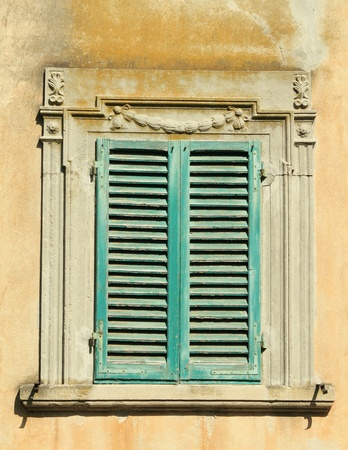 beautifully framed ancient window, Mediterranean, Italy Stock Photo - 8845292