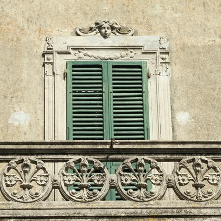 century window with balcony, Italy Stock Photo - 8845293