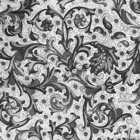 black and white ornamental paper background photo