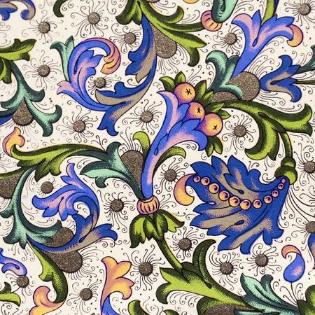 vintage floral decorative paper