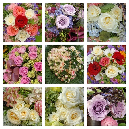 rose bouquet collage photo