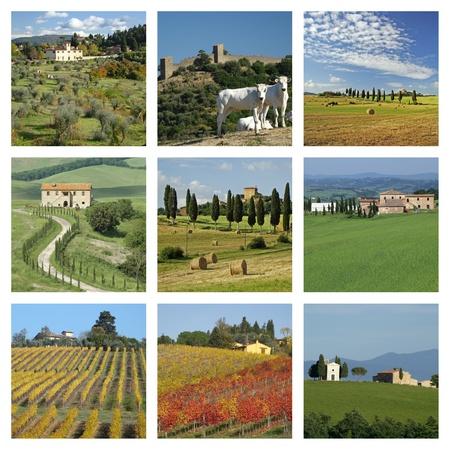collage of idyllic tuscan views