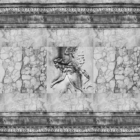 antique angel relief photo