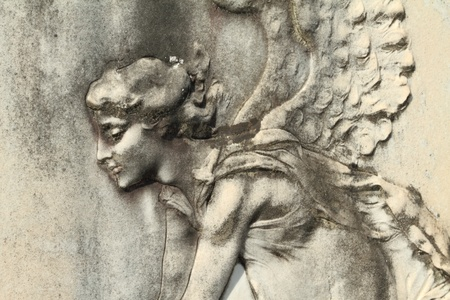 antique angelic relief  photo