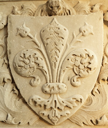 medici: marble Medici coat-of-arms , Italy
