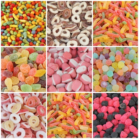 candy collage photo