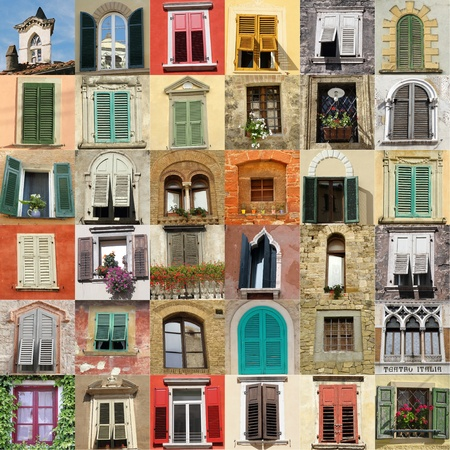 many windows: collection of windows from Italy