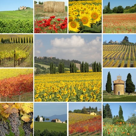 toscana: Colors of Tuscany collage Stock Photo
