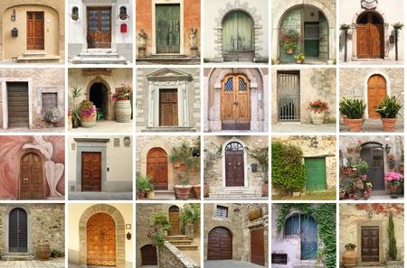 italian vintage doors collection Stock Photo