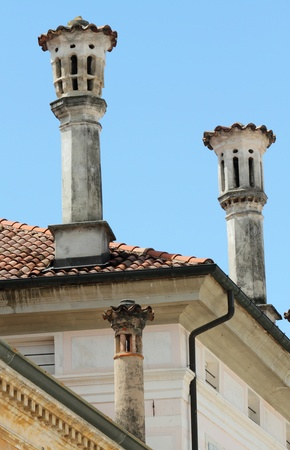 unique characteristics: traditional venetian chimneys, Italy