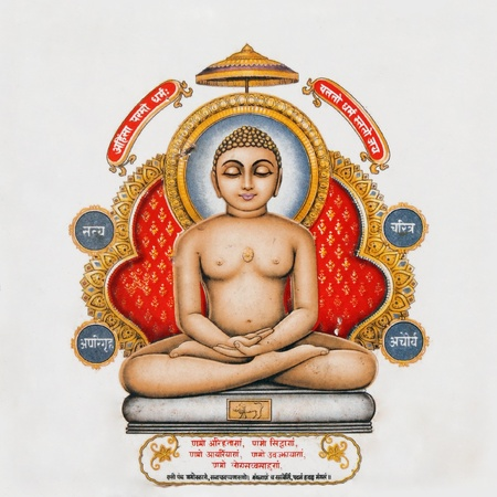nirvana: image of Buddha on antique pottery tile