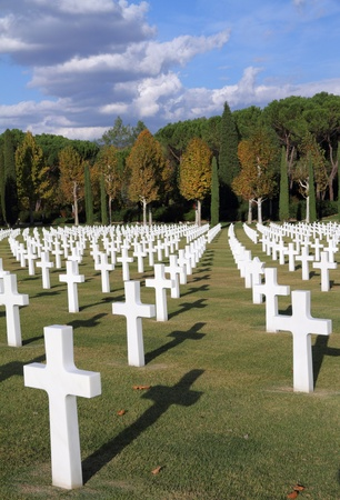 military cemetery: Florence American Cemetery and Memorial,  Tuscany, Italy,  Europe Stock Photo