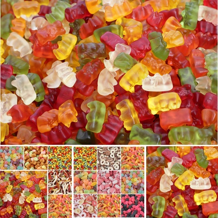 candies collage photo