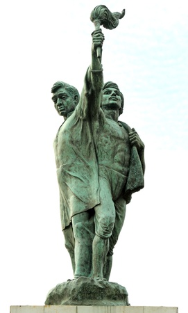martyr: The Hutatma Chowk memorial  ( statue of a