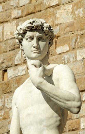 florence   italy: famous statue of David by Michelangelo, Florence, Italy, Europe