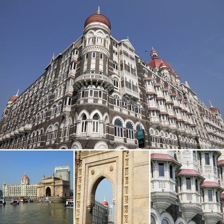 images of luxury historic hotel Taj Mahal Palace in Mumbai ( formerly Bombay ), India, Asia photo