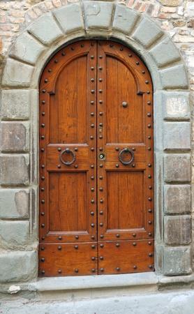 elegant double vintage door, Italy Stock Photo - 12532110