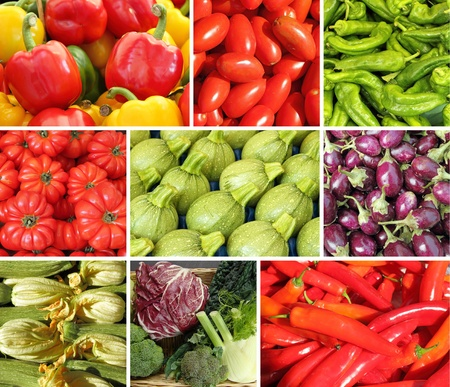 collage with vegetables photo