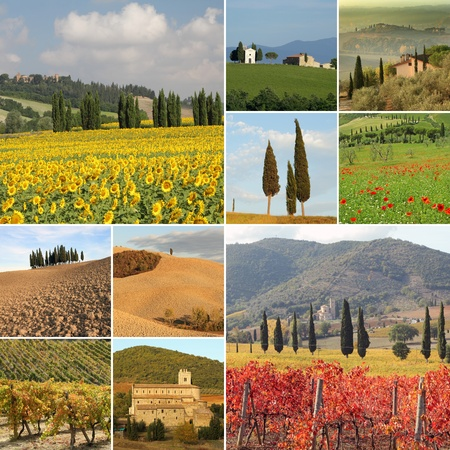 in four seasons time, Italy, Europe Stock Photo - 12532116