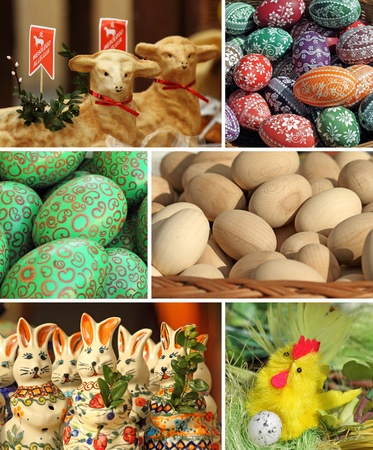 collage with easter compositions, Poland Stock Photo - 12532196