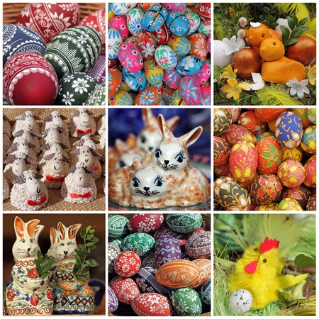 composition wit easter decorations, Poland