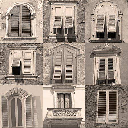 old windows with shutters collection from Italy