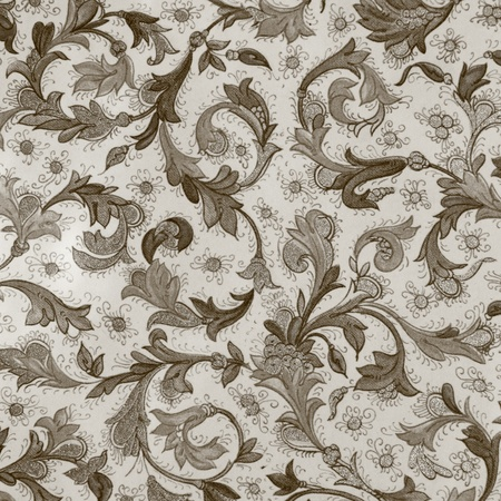 elegant sepia floral paper photo