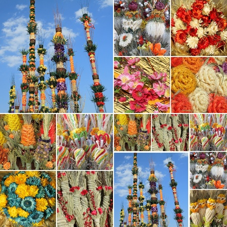 , traditional woven palms for Easter Sunday celebration in Poland , Krakow, Europe photo