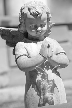 meditation pray religion: monumental cemetery  Staglieno,Genoa, Italy, Europe