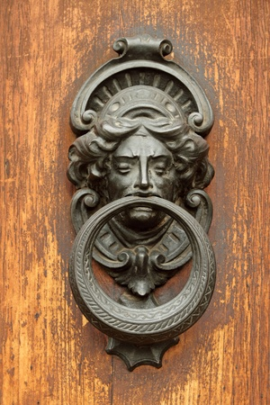 vintage door knocker in Tuscany, Italy, Europe Stock Photo - 12839269
