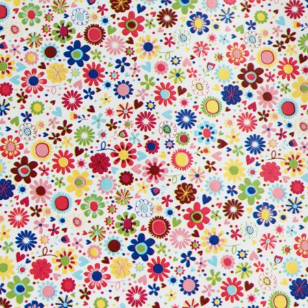 colorful floral wrapping paper