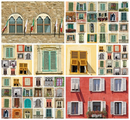 wallpaper made of windows from Italy photo