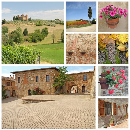 tuscan images collage, Italy, Europe photo