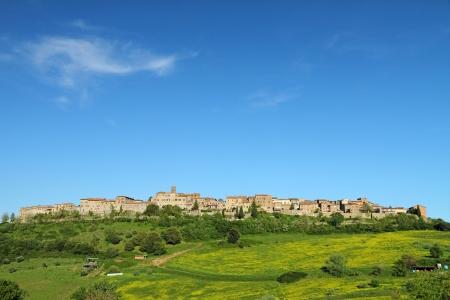italian village: landscape with borgo Casole d